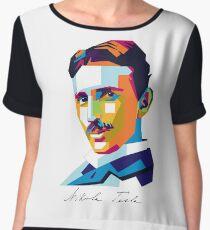 Nikola Tesla Inventor Genius Chiffon Top