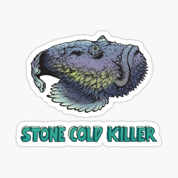 Stone cold killer Sticker