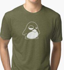 TUX Penguin in a bad mood, LINUX  Tri-blend T-Shirt
