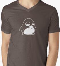 TUX Penguin in a bad mood, LINUX  Men's V-Neck T-Shirt