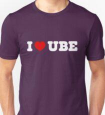 581c08a0 I Love Ube - Funny Food Slim Fit T-Shirt