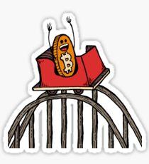 Bitcoin Rollercoaster Guy (Landscape) Sticker