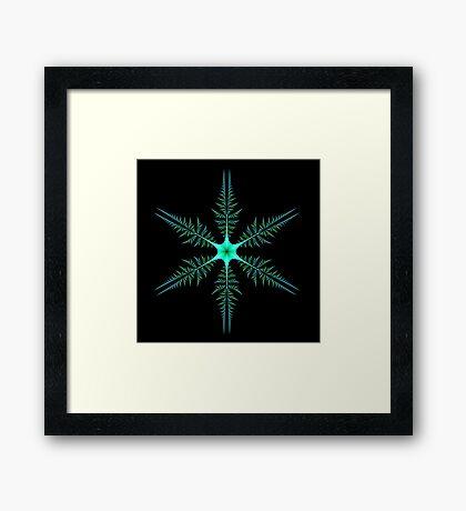 Blue-Green Diatom Framed Print