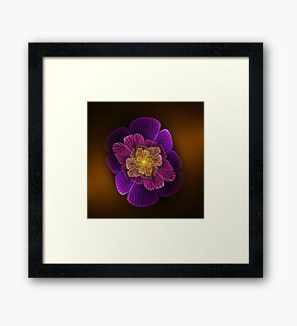 Wavy Apo Flower Framed Print