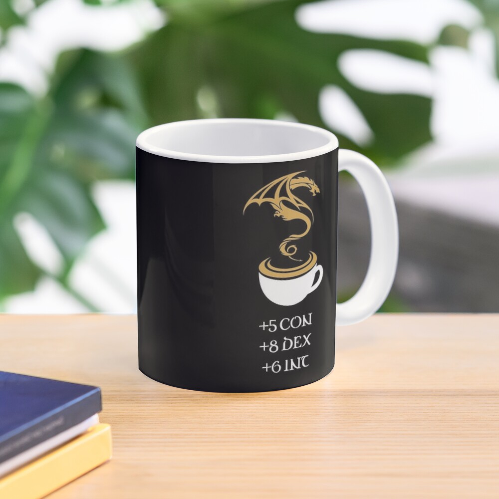 Coffee Stats Tabletop RPG Addict Mug