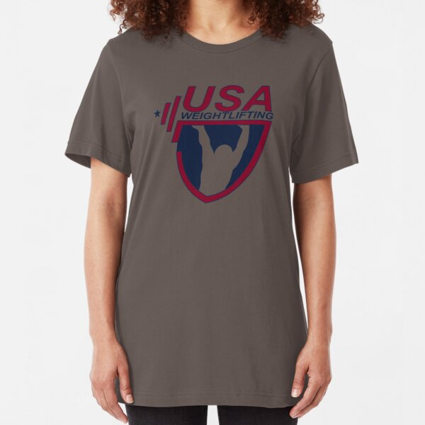 NICE T-SHIRT Team Usa Olympic Weightlifting New Product Slim Fit T-Shirt