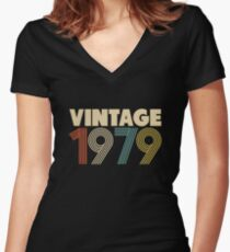 Vintage 1979 - 39th Birthday Women's Fitted V-Neck T-Shirt