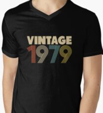 Vintage 1979 - 39th Birthday V-Neck T-Shirt
