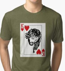 Jesus Is King Of Heart T-Shirt Tri-blend T-Shirt
