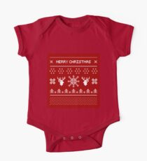 Red Christmas Sweater Pattern Kids Clothes