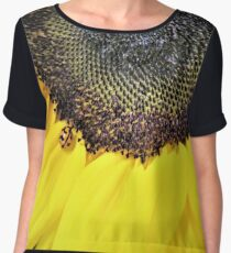 Ladybird on Sunflower Chiffon Top