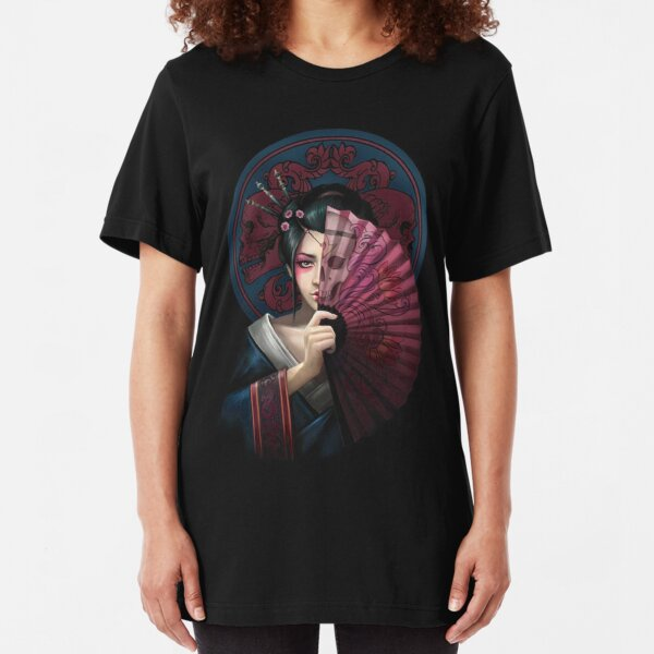 Geisha Warrior Slim Fit T-Shirt