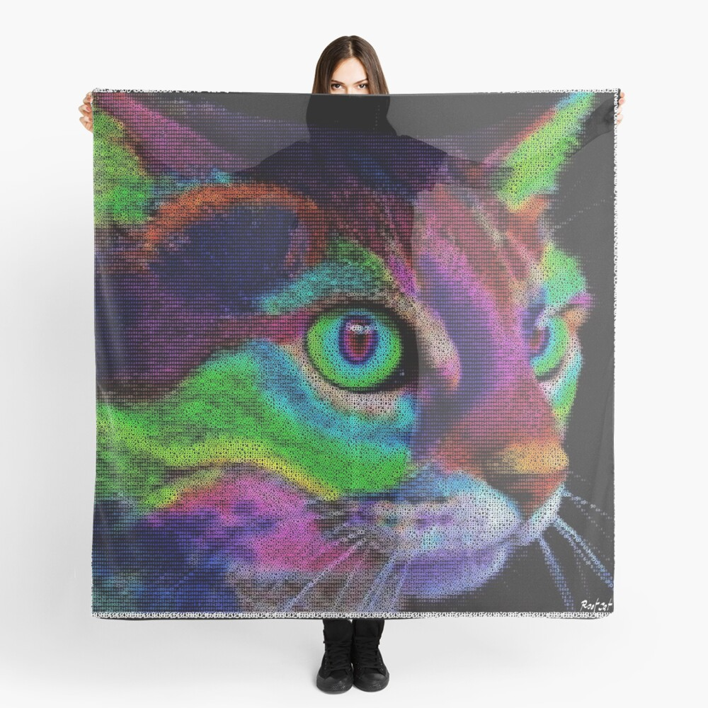 ASCii ART COLOR CAT ™ by ROOTCAT Scarf