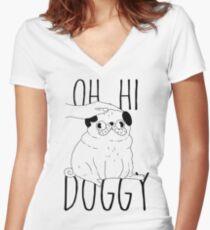 Pug Snug Women's Fitted V-Neck T-Shirt