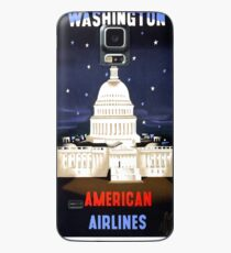 Washington Travel Poster Case/Skin for Samsung Galaxy