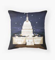 Washington Travel Poster Throw Pillow