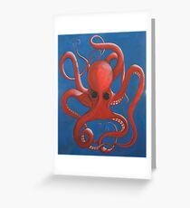 Octopus Oil Greeting Card