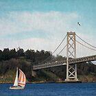 Sailboat on the Bay by Bonnie M. Follett