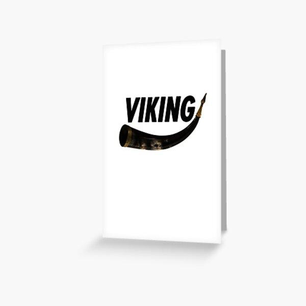 Viking Horn Greeting Card