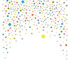 Silvester. Buntes Konfetti mit Sternen.  von Christine Krahl