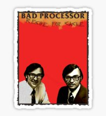 Bad Processor - Recipe For Cache - Bad Religion - Recipe For Hate Sticker