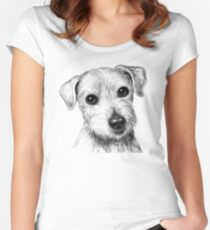 THE CUTE LITTLE DOG, 2018 Women's Fitted Scoop T-Shirt