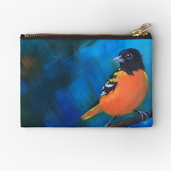 Northern Oriole Zipper Pouch