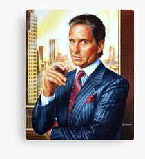 Michael Douglas painting portrait Canvas Print
