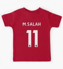 Mohamed Salah - Liverpool 2017/18 Home Kids Tee
