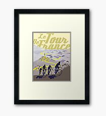 TOUR DE FRANCE; Vintage Bicycle Racing Print Framed Print