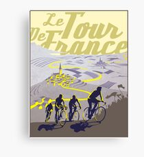 TOUR DE FRANCE; Vintage Bicycle Racing Print Canvas Print