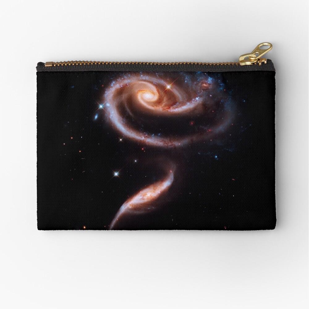 Eine Rose aus Galaxien Täschchen