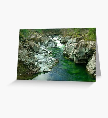 Cowichan Valley Stream Greeting Card