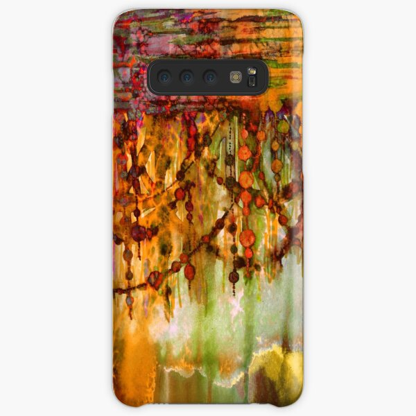 PRISMACOLOR PEARLS 2 Colorful Watercolor Abstract Painting Marsala Red Orange Rust Olive Green Ocean Waves Fine Art Samsung Galaxy Snap Case