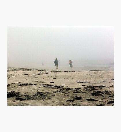 The Fog Rolls in at Tor Bay Photographic Print