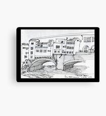 ITALY- Ponte Vecchio, Firenze Canvas Print