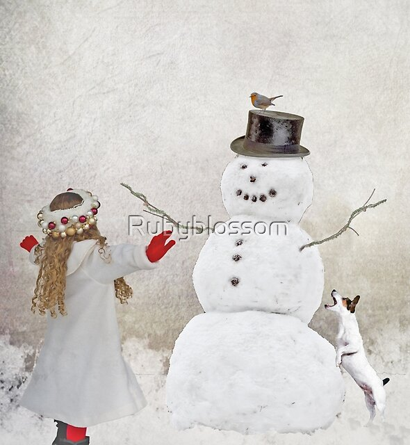 Welcome Mr Snowman ... by Rubyblossom