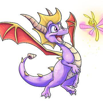 Spyro and Sparx by BlazeTFD