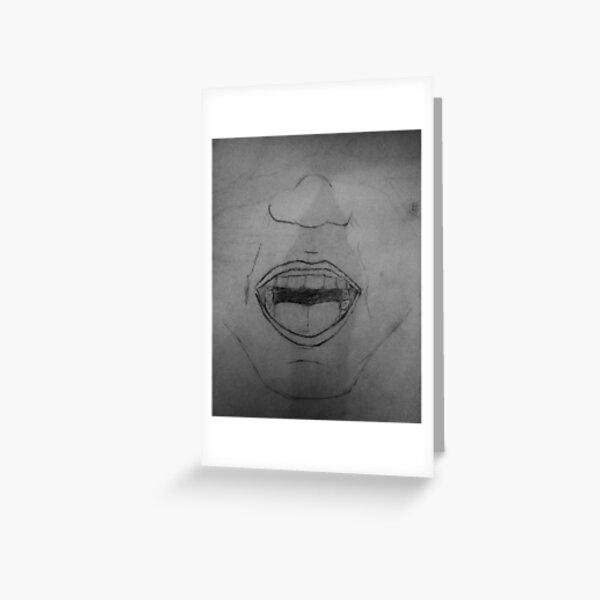 Silent Scream Greeting Card