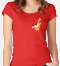 Christmas Hat Pikachu - Pokemon Women's Fitted Scoop T-Shirt