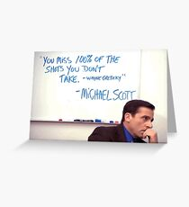 michael scott wayne gretzky screencap Greeting Card