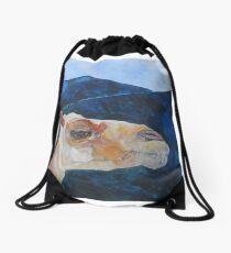 Camel in Lanzarote Drawstring Bag