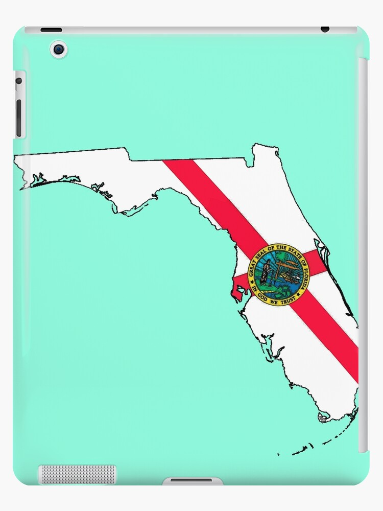 Florida Map Of State.Florida Map With Florida State Flag Ipad Case Skin By Havocgirl