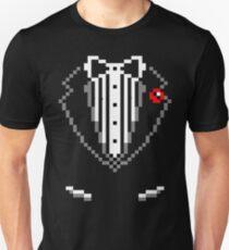 8-bit Tuxedo Unisex T-Shirt