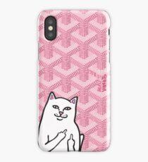 Pink Goyard Fk you cat iPhone Case