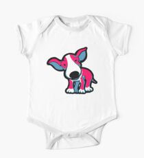 EBT Puppy Pink , White and Teal  One Piece - Short Sleeve