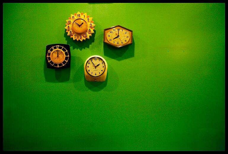 green clocks by sanfordds