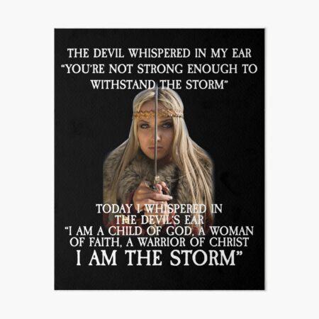 The Devil Whispered in My Ear Bible Verse Art Board Print