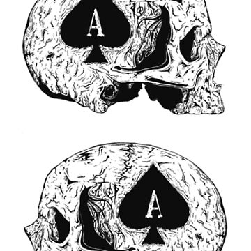 Ace Of Spades Skull Design by JessieDuke
