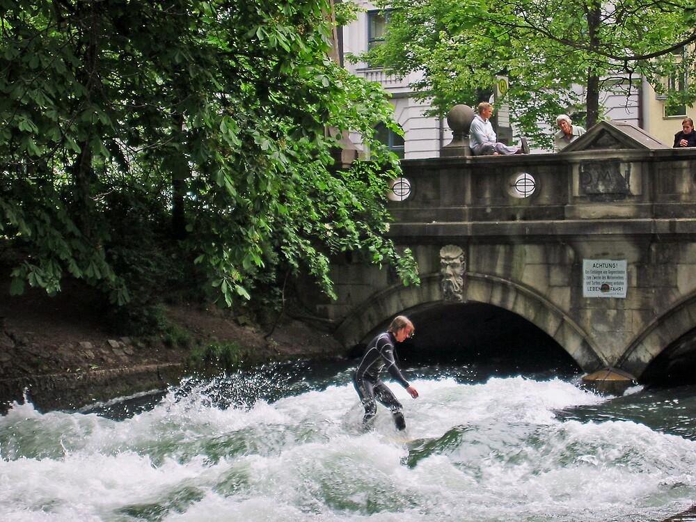 Surfing Munich style by mypics4u